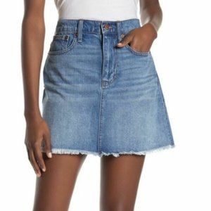 Madewell McCarren Denim Mini Skirt Raw Hem 26